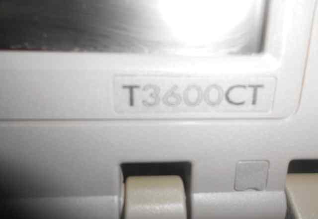 Старый раритетный ноутбук Toshiba Portege T3600CT