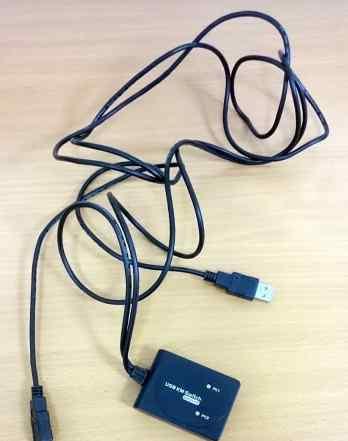 KVM USB 2 порта USB общие на 2 пк и data link