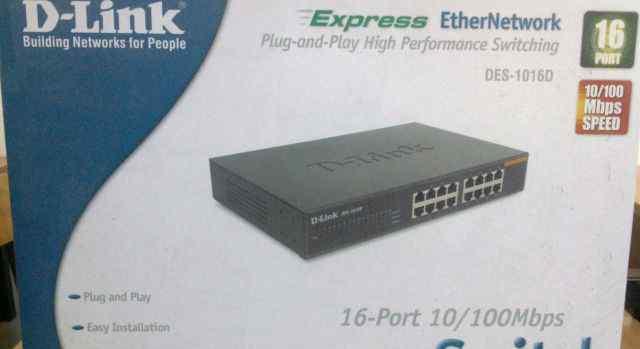 Коммутатор (switch) D-Link DES-1016D