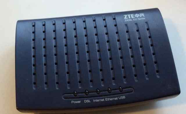 Модем zte zxdsl 831AII без wi-fi