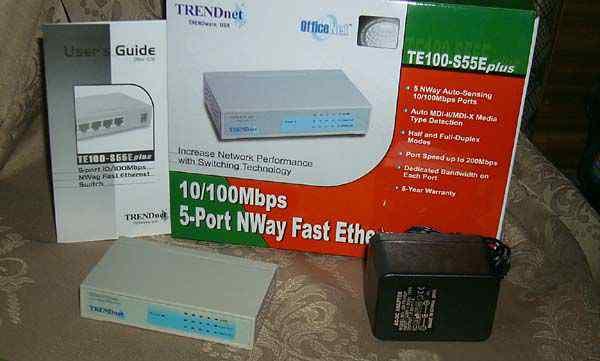Новый коммутатор trendnet TE100-S55E plus