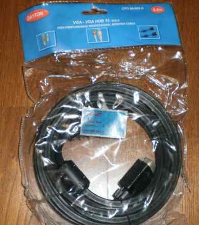 Кабель dayton VGA-VGA HDB 15 Gold