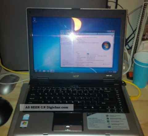 Ноутбук в рабочем состоянии