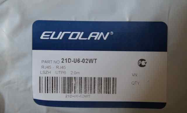 Патч-корд 6 кат. белый 2 м. Eurolan 21D-U6-02WT