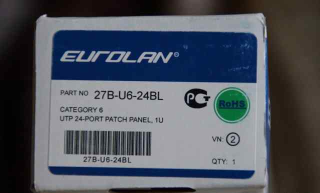 Патч-панель 6 кат. Eurolan 27B-U6-24BL 19