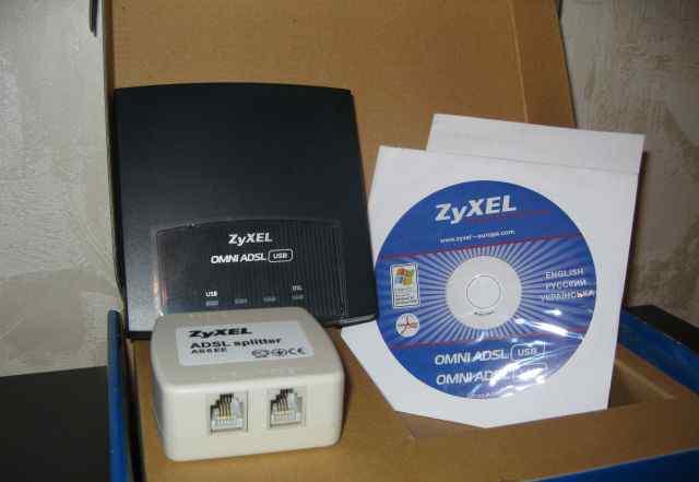 Zyxel Внешний adsl модем с портом USB
