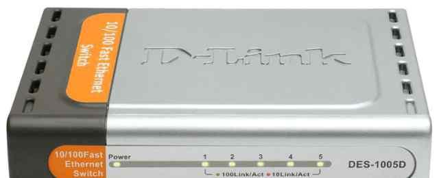 Коммутатор D-link DES-1005D + 5 м сетевого кабеля