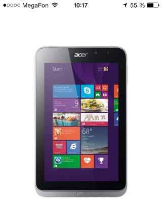 Aser icona tab w4-820 32gb wi-fi grey