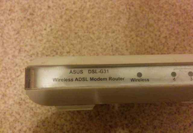 Wifi модем adsl asus gsl-g31