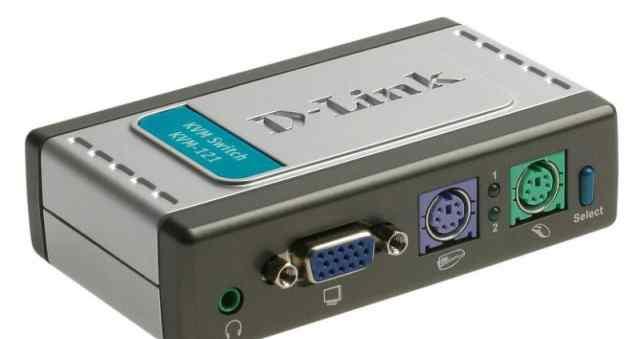 2-портовый KVM-переключатель с портами PS2