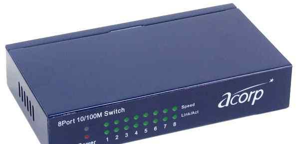 Коммутатор (switch ) acorp HU8D