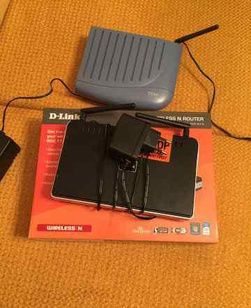 Модем ZTE и wi-fi роутер D-link