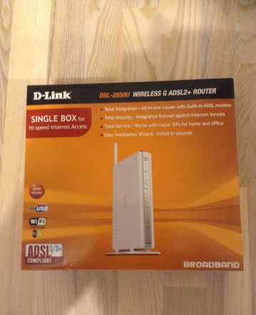 DSL-2650U wireless G adsl2+ router