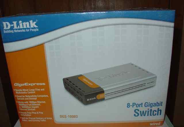 Коммутатор switch D-Link DGS 1008D новый