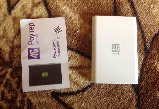 4G роутер мегафон MR 100-2 новый почти)
