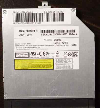 Dvdrw привод для ноутбука Panasonic UJ-890 Black