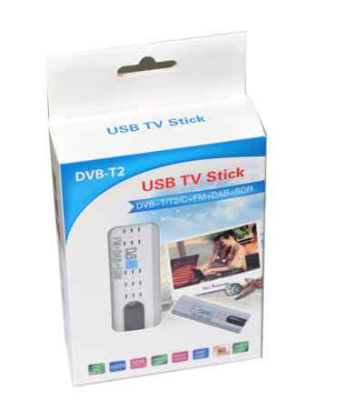 Тюнер USB T2 DVT для ноутбука антенна 40 каналов