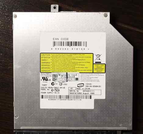 Dvdrw привод для ноута Sony NEC Optiarc AD-7543A