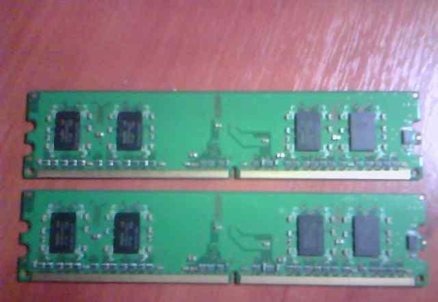 Оперативка hynix 1 Гб 2х512Мб