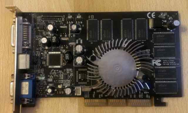 Видеокарта AGP nvidia GeForce FX 5200 128 Мб