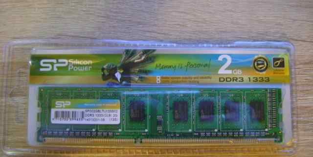 DDR3 1333 MHz 2Gb новая в упаковке