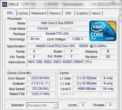 процессор Intel Core2 Duo E6550