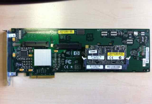 Контроллер HP Smart Array E200 SATA SAS 128Mb bbwc