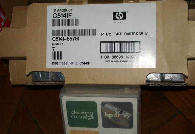 Кассеты для стриммера HP DLTtape IV, C5141F