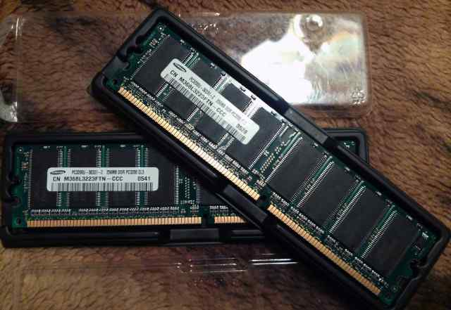 Samsung 256MB DDR400 PC3200 CL3 2шт