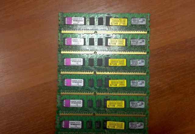 Память DDR3 Kingston PC3-8500 1066мгц Reg ECC 12Gb