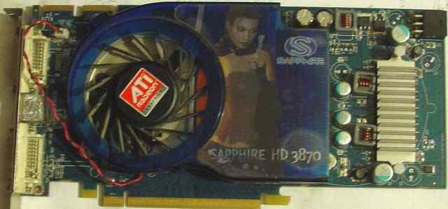 ATI Sapphire HD 3870 неисправная