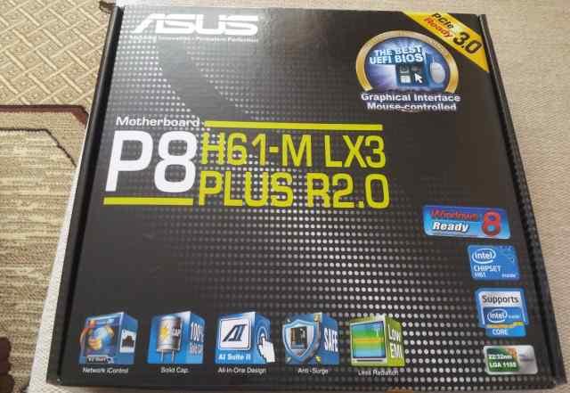 Новая материнская плата asus P8H61-M LX3 plus R2.0