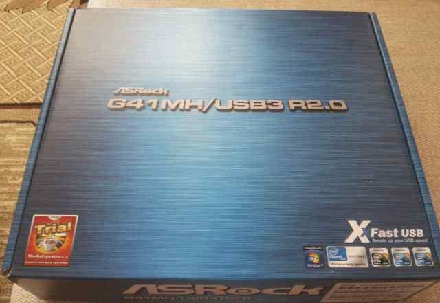 Новая Материнская плата Asrock G41MH/ USB3