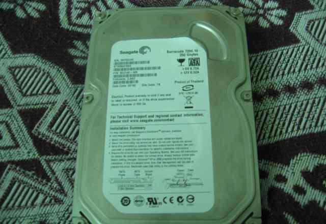 Жесткий диск б/у, 250Гб