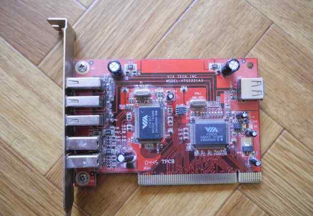 Карта PCI VIA VTS2221A3 3xUSB2ext + 2x1394