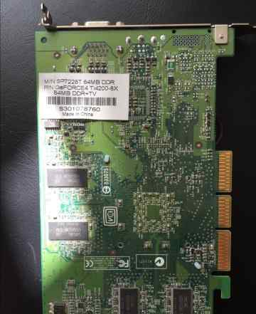 Видеокарта geforce4 Ti4200-8x