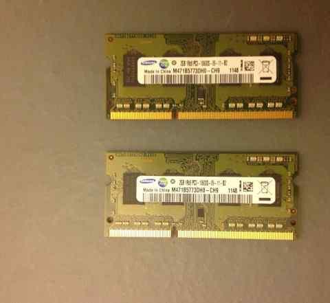 DDR 3 2x2gb samsung 1333 MHz для macbook