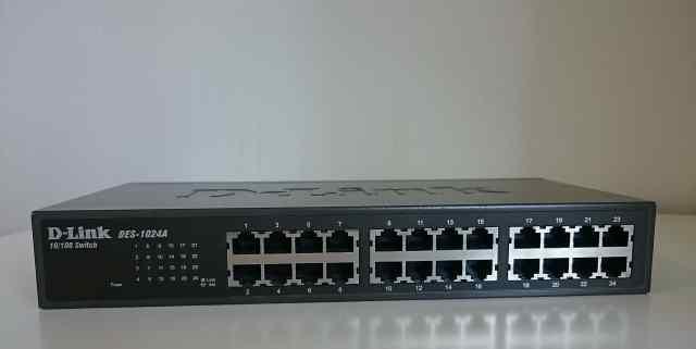 Коммутатор D-Link с 24 портами 10/100Base-TX