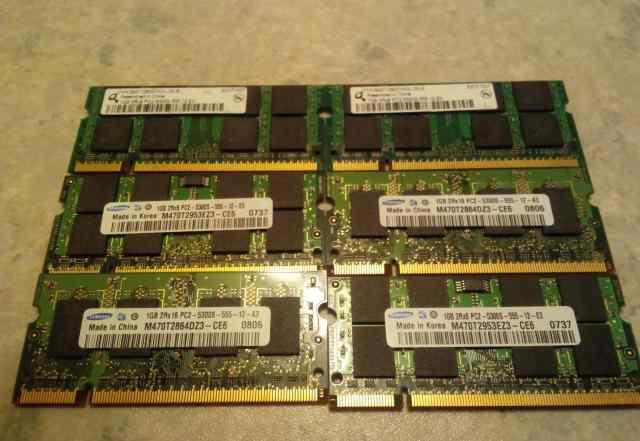 Модули памяти для ноутбука Samsung DDR2 1Gb