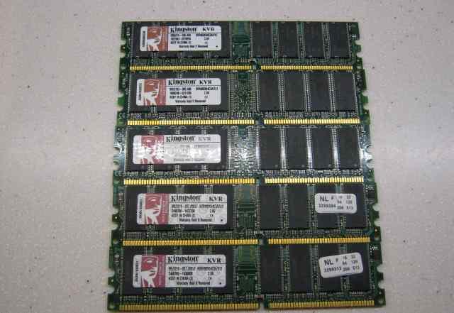 Память 2Gb Kingston DDR1 4x 512Mb