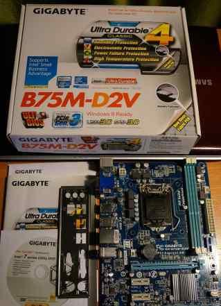 Gigabyte B75M-D2V, сокет 1155