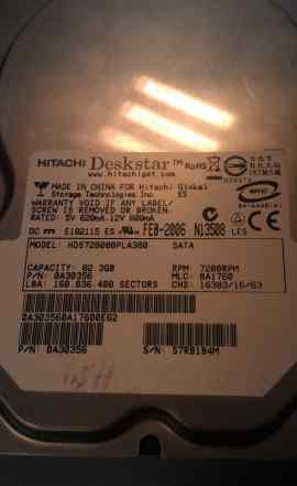 Жесткий диск Hitachi HDS728080PLA380 SATA 82.3Gb