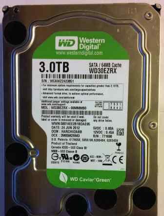Western Digital WD30ezrx 3тб