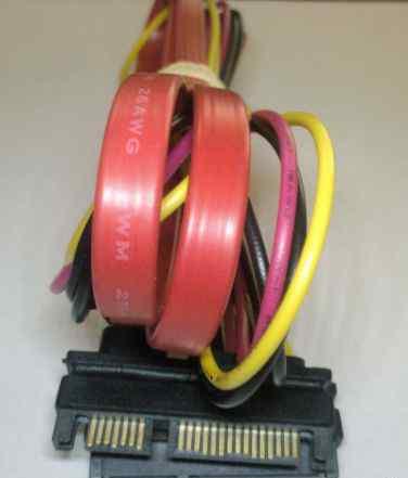 Шлейф sata data + power 15+ 7 Pin