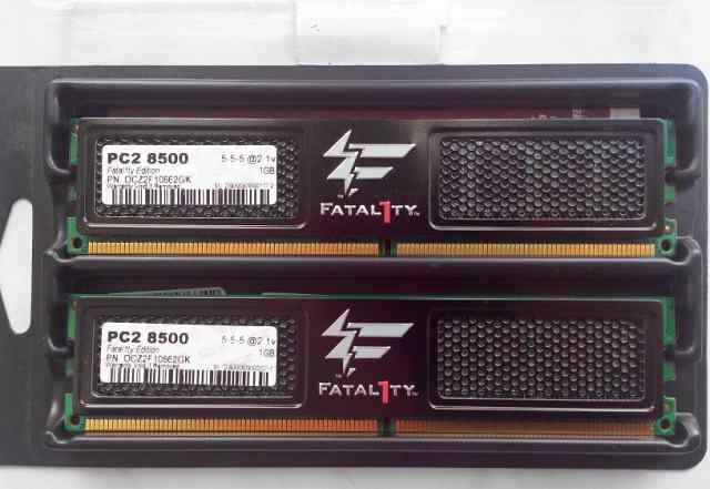 Модуль памяти OCZ DDR2 PC2-8500 1GB