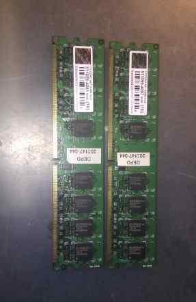 Оперативная память Transcend dimm DDR2 1gb CL5 667