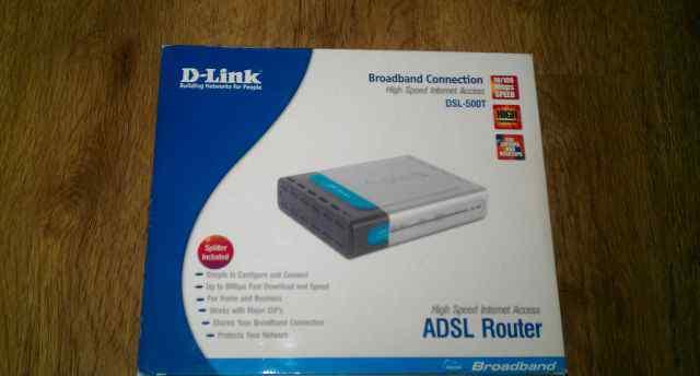 Adsl-модем (роутер) D-link DSL-500T