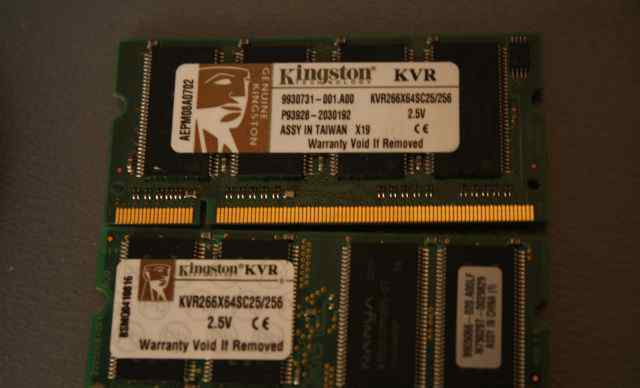 Память для ноутбука SO-dimm DDR1 2x512 Kingston