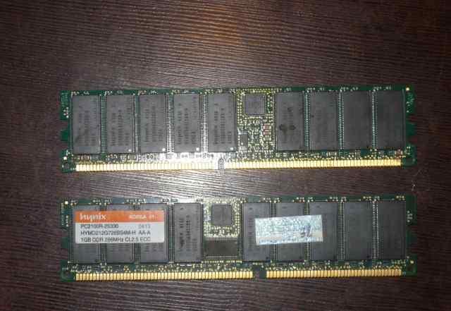 Серверная DDR1 ECC 2x1GB Hynix Korea