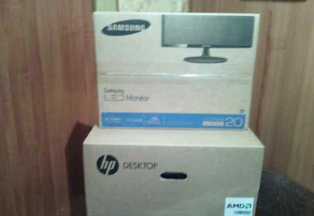 Компьютер HP монитор samsung